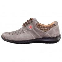 Pantofi piele naturala barbati gri Otter OT9560-H1-I-Tobacco