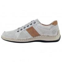 Pantofi piele naturala barbati gri Rieker relax confort 05216-42-Grey