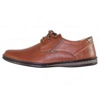 Pantofi piele naturala barbati maro Krisbut 4890P-3-9-Brown