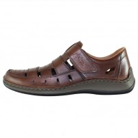 Pantofi piele naturala barbati maro Rieker relax confort 05268-25-Brown