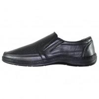 Pantofi piele naturala barbati negru Nicolis 200589-Negru