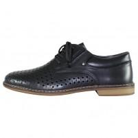 Pantofi piele naturala barbati negru Rieker 13425-00-Black