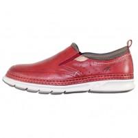 Pantofi piele naturala barbati rosu Fluchos relax confort Fuji-F0174-Terracota-Rojo