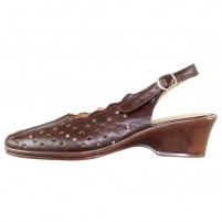 Pantofi piele naturala dama maro Nicolis toc mediu 55039-MaroT