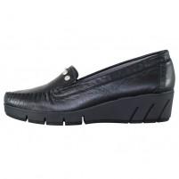 Pantofi piele naturala dama negru Naturlaufer relax confort 62-831-3-Schwarz