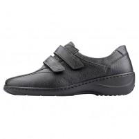 Pantofi piele naturala dama negru Waldlaufer relax confort ortopedic 607302-172-001-Kya-Schwarz