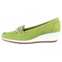 Pantofi piele naturala dama verde Ara relax confort 12-30937-Nubuk-Heaven-frog