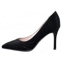 Pantofi piele naturala dama negru Epica toc mediu B01568-3603D-A827-01F-Black-Satin