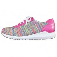 Pantofi piele naturala dama multicolor pink Waldlaufer relax confort ortopedic 381071-10-1901-Pink