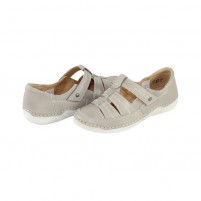 Pantofi Reflexan - cement, din piele naturală