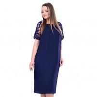 Rochie dama de ocazie eleganta cu dantela albastru Per Donna midi Eloise-91465-Albastru