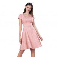 Rochie dama de ocazie eleganta roz Per Donna midi Maribela-11814-Roz