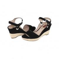 Sandale piele naturala dama negru s.Oliver 5-28322-24-Black
