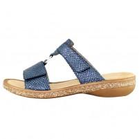Saboti dama albastru Rieker relax confort 628P9-14-Albastru
