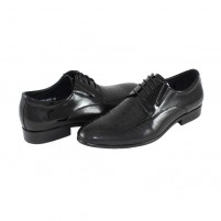 Pantofi eleganti piele naturala barbati negru Saccio A195-39YC-Black