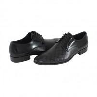 Pantofi eleganti piele naturala barbati negru Saccio J2582-F06A-Black