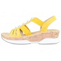Sandale dama galben Rieker V7771-68-Yellow