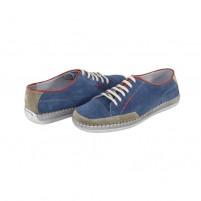 Pantofi Walk in the city - indaco, din piele naturală