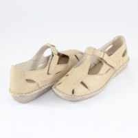 Sandale Walk in the city - beige, din piele naturală