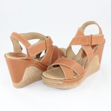 Sandale piele naturala dama maro Agressione S-126-Maro