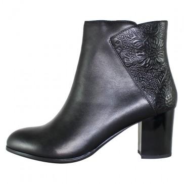 Botine piele naturala dama elegante negru Epica JI6M49-MX527-B002BL-01-N-Black