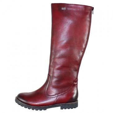 Cizme piele naturala dama bordo Remonte iarna R4276-36-Red