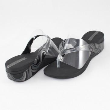 Papuci dama gri negru Ipanema 80437-Black-Clear