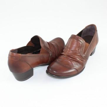 Pantofi Marco Tozzi - muscat antic, din piele naturală