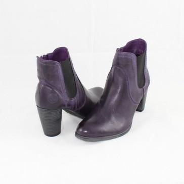 Ghete piele naturala dama violet Marco Tozzi iarna 2-25061-39-ViolaBlack