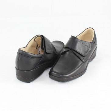 Pantofi Nicolis negre, din piele naturală