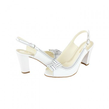 Sandale piele naturala dama alb Nike Invest SA343-Alb