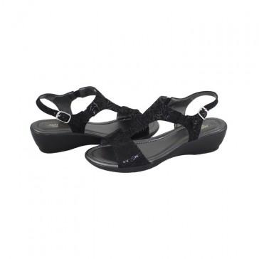 Sandale piele naturala dama negru Agressione Irina-V4-Negru
