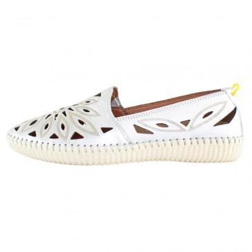 Pantofi piele naturala dama argintiu Dogati shoes confort 105-Argintiu