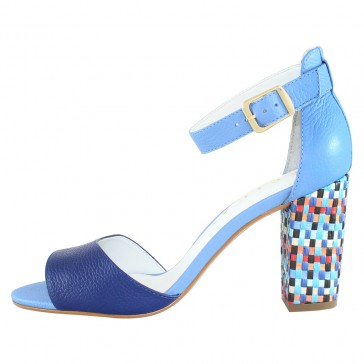 Sandale piele naturala dama albastru Epica OE8291-446-565-07-N-Blue