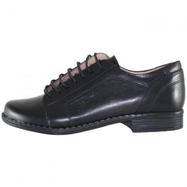 Pantofi piele naturala dama negru Nicolis 14238-Negru-Box