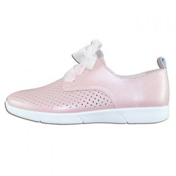 Pantofi piele naturala dama roz Rieker relax confort N9025-31-rosa