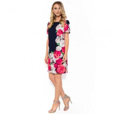 PalomaShop-ro-Rochie-din-voal-floral-Viada-R-013-8052-BLM