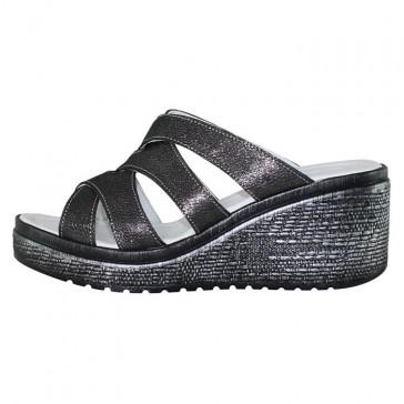 Sandale piele naturala dama gri argintiu Nicolis 161708-NS