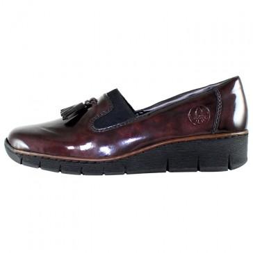 Pantofi dama bordo Rieker relax confort 53751-35-Red