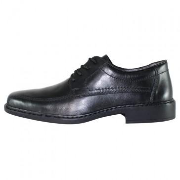 Pantofi eleganti piele naturala barbati negru Rieker B0812-01-Black