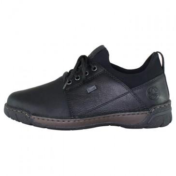 Pantofi piele naturala barbati negru Rieker B0393-00-Black