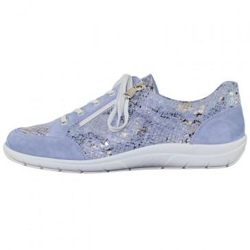 Pantofi piele naturala dama albastru Semler 36-298-4-Pythona-aqua