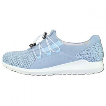 Pantofi piele naturala dama albastru, Waldlaufer relax confort ortopedic 388042-101-901-Hellbla