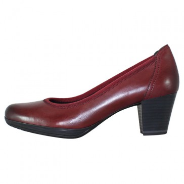 Pantofi piele naturala dama bordo Marco Tozzi toc mediu 2-22418-33-507-Bordeaux-Ant