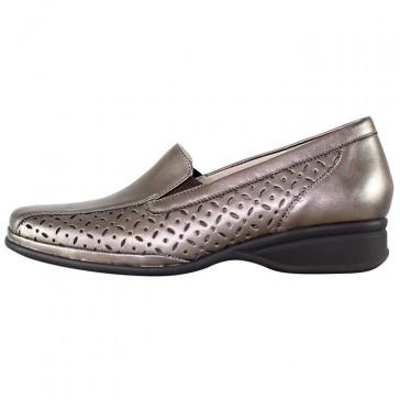 Pantofi piele naturala dama bronz Semler 13851-Metall-Nappa-bronce