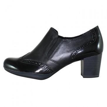 Pantofi piele naturala dama negru Marco Tozzi 2-24404-23-096-Black-Antic-comb
