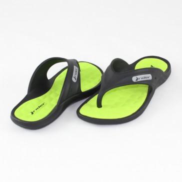 Papuci negru verde Rider 80635-Black-Green