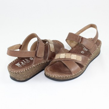 Sandale piele naturala dama maro Walk in the city 4914-2415-Marrone