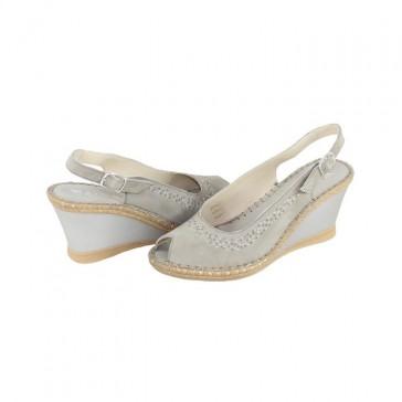 Sandale Walk in the city - cenere, din piele naturală
